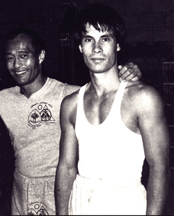 Blaise with Dan Inosanto
